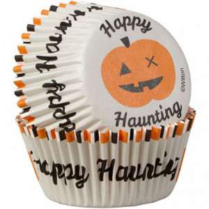 Caissette Cupcake Halloween Happy Haunting ø5cm (x75) Wilton