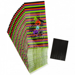 Sachet Bonbon Halloween Trick or Treat 100x240mm (x20)