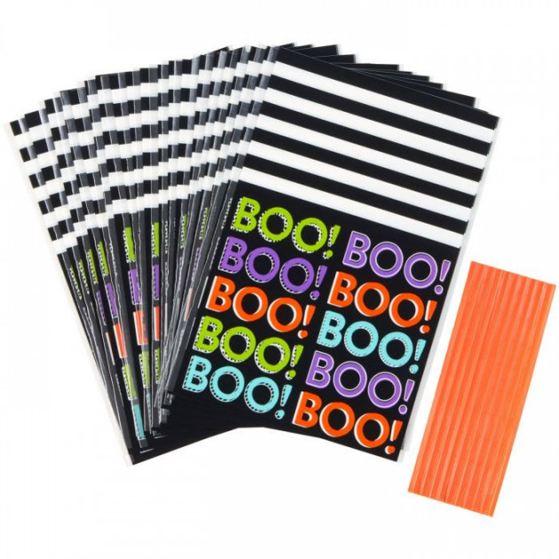 Sachet Bonbon Halloween BOO! 100x155mm (x20)