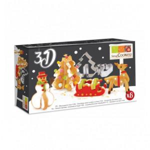 Emporte-Pièces Inox Biscuits Noël 3D Scrapcooking