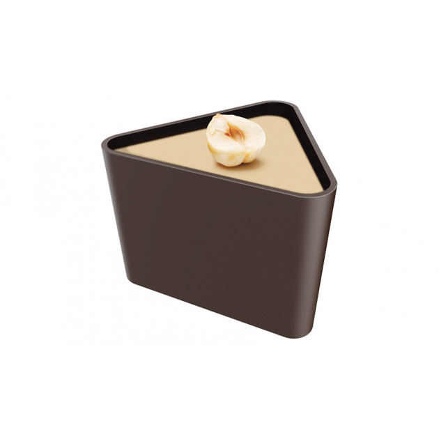 Moule 18 coupelles triangulaires en chocolat