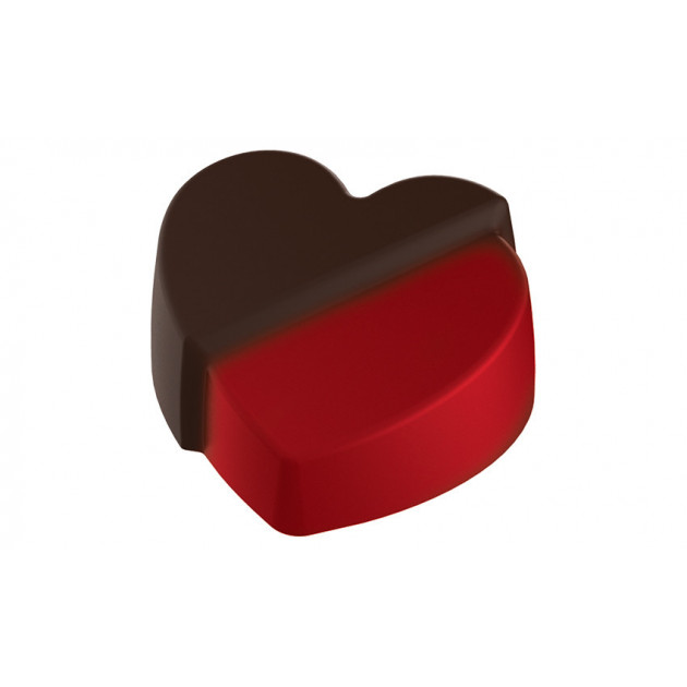 Moule Chocolat Coeur Fendu 35 mm (x24) Pop Chocolat