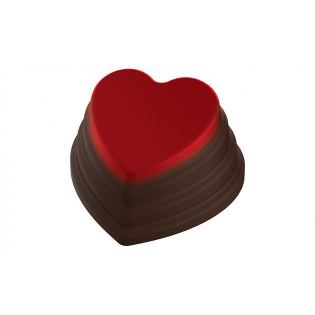 Moule Chocolat Coeur Empile 35 mm (x24) Pop Chocolat