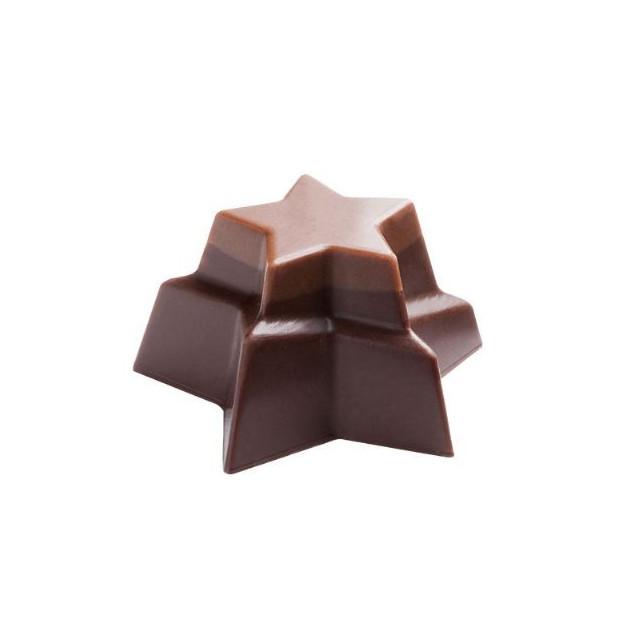 Moule Chocolat etoiles Empilees 36 mm (x24) Pop Chocolat