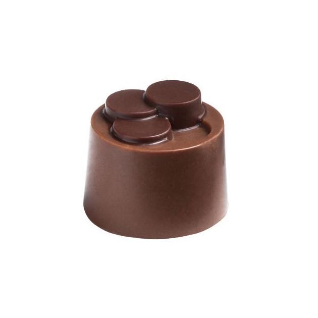 Moule Chocolat Pralines Cylindriques Escalier Ø 25 mm (x28) Pop Chocolat