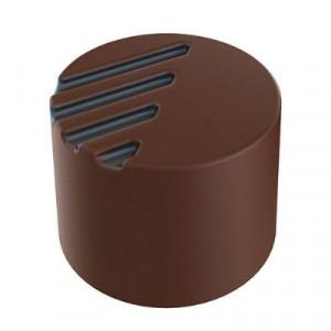 Moule Chocolat Pralines Cylindriques Striées Ø25 mm (x28) Pop Chocolat