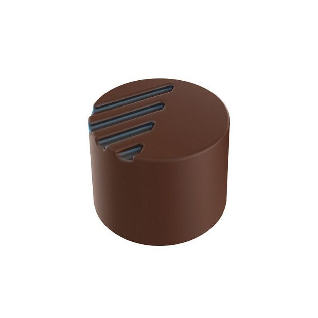 Moule Chocolat Pralines Cylindriques Striees Ø 25 mm (x28) Pop Chocolat