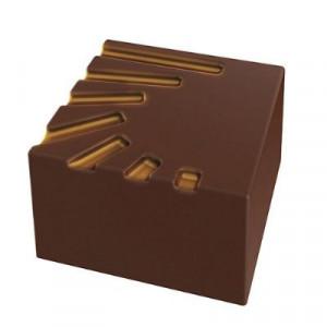 Moule Chocolat Pralines Carrées Striées 25 mm (x28) Pop Chocolat