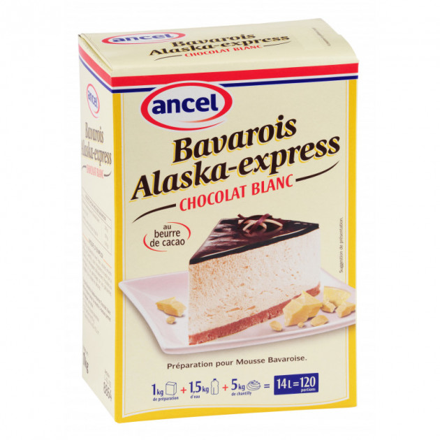 Preparation bavarois Alaska-Express Cacao blanc 1 kg Ancel