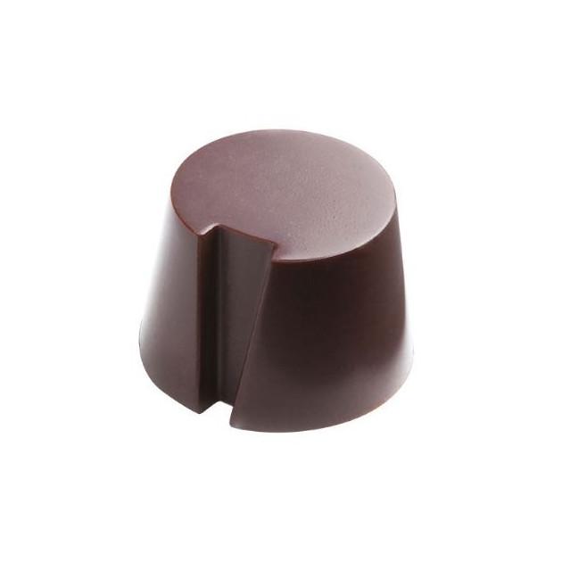 Moule Chocolat Pralines Cylindres Biseautes Ø27 mm (x28) Pop Chocolat
