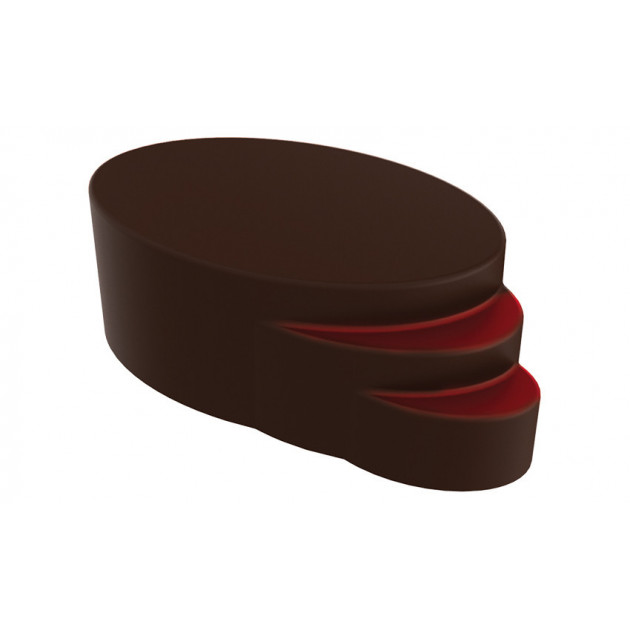 Moule Chocolat Praline Ellipse Escalier (x24) Pop Chocolat