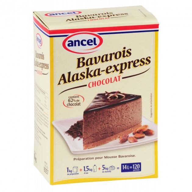 Preparation bavarois Alaska-Express Chocolat 1 kg Ancel