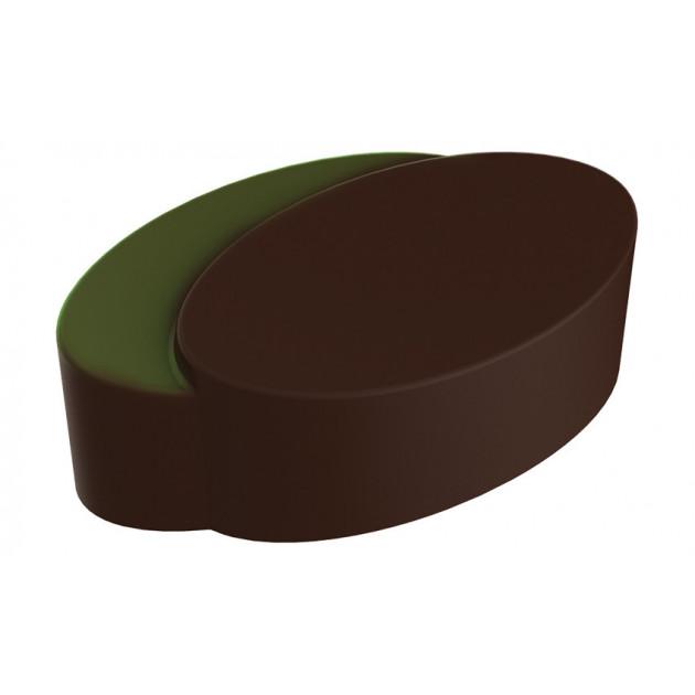 Moule Chocolat Praline Ellipses Jumelles (x24) Pop Chocolat
