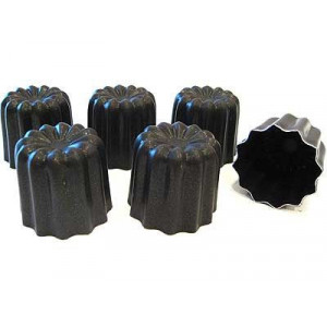Moule à Cannelés Bordelais Anti-adhésif Aluminium 5,5 mm