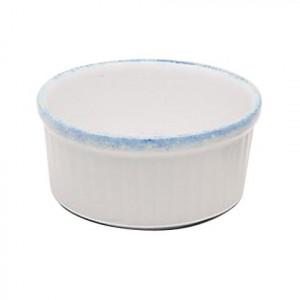 Ramequin 10 cm Porcelaine Blanche granitée