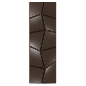 Moule Chocolat Tablette Effet Carré Penché (x6)