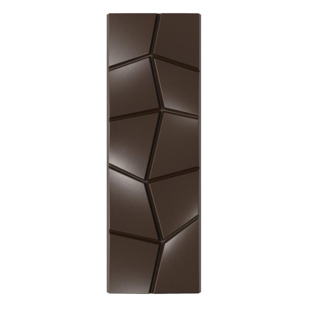 Moule Chocolat Tablette Effet Carre Penche (x6)