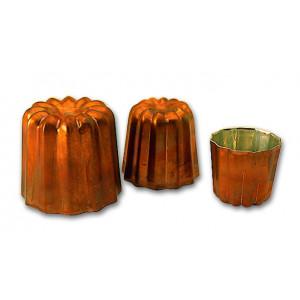 Moule à Cannelés en Cuivre étamé 4,5 cm x H 4,5 cm Mallard Ferrière