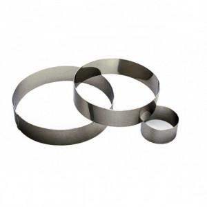 Cercle à Mousse Inox 16 cm x H 4,5 cm Gobel