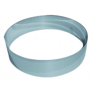 Cercle à Vacherin Inox 26 cm x H 6 cm Gobel