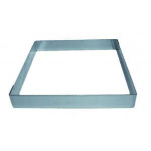 Cadre à Entremets Inox 20 x 20 cm x H 3,5 cm Mallard