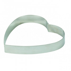 Cercle à Entremets Coeur Inox 22 cm x H 3 cm Mallard