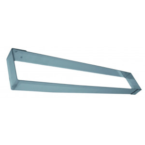 Cadre Rectangle Inox 57 x 11 cm x H 4,5 cm Mallard