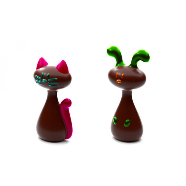 Moule Chocolat Chat et Lapin de Paques (x4)