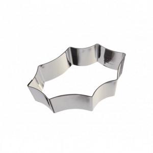 Cercle à Pâtisserie Inox Feuille de Houx 20 x 13,5 cm x H 4,5 cm Gobel