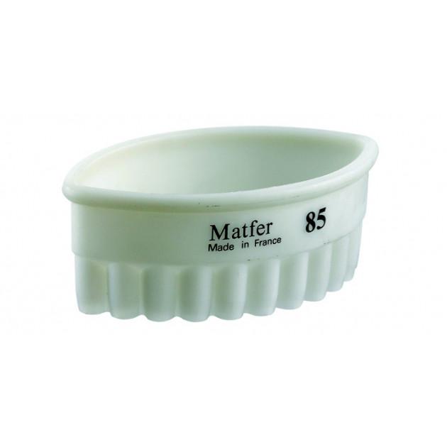Emporte Piece Ovale Cannele 7 x 4 cm Exoglass Matfer