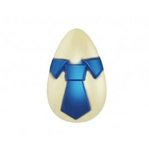 Moule Chocolat Oeuf Cravate 9.2 cm (x2)