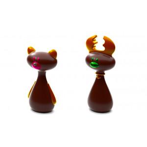 Moule Chocolat Renne et Ours de Noël (x4)
