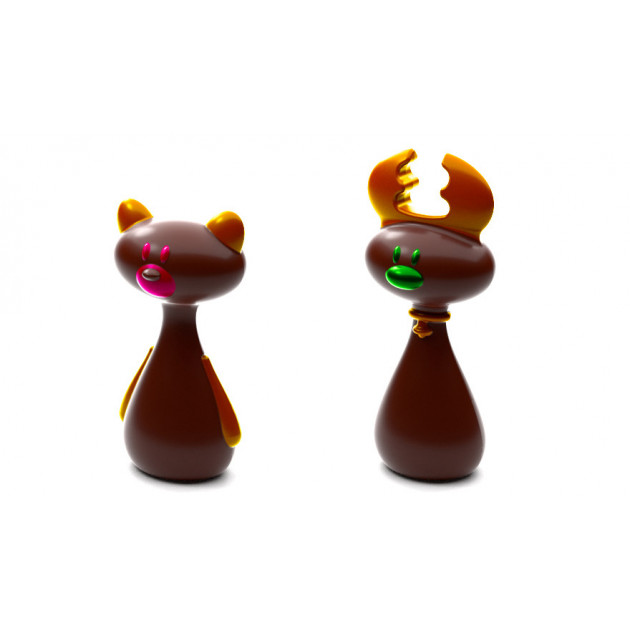 Moule Chocolat Renne et Ours de Noel (x4)