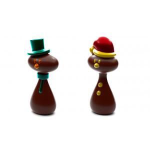 Moule Chocolat Père Noël et Bonhomme de neige (x4)