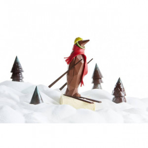 Moule Chocolat Pingouin Origami 18 cm (x2) Barry