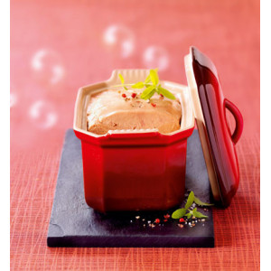 Terrine à Foie Gras avec presse 0,6 L Cerise Le Creuset