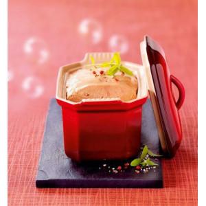 Terrine à Foie Gras avec presse 0,8 L Cerise Le Creuset céramique