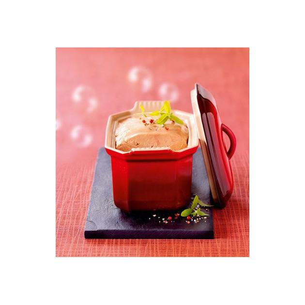 Terrine a Foie Gras avec presse 0.8 L Cerise Le Creuset ceramique