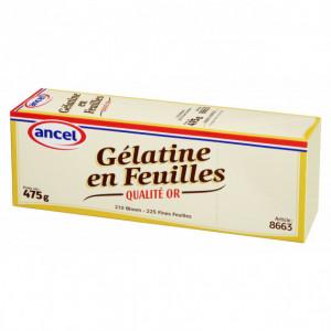 Gélatine en feuilles qualité or 475 g Ancel
