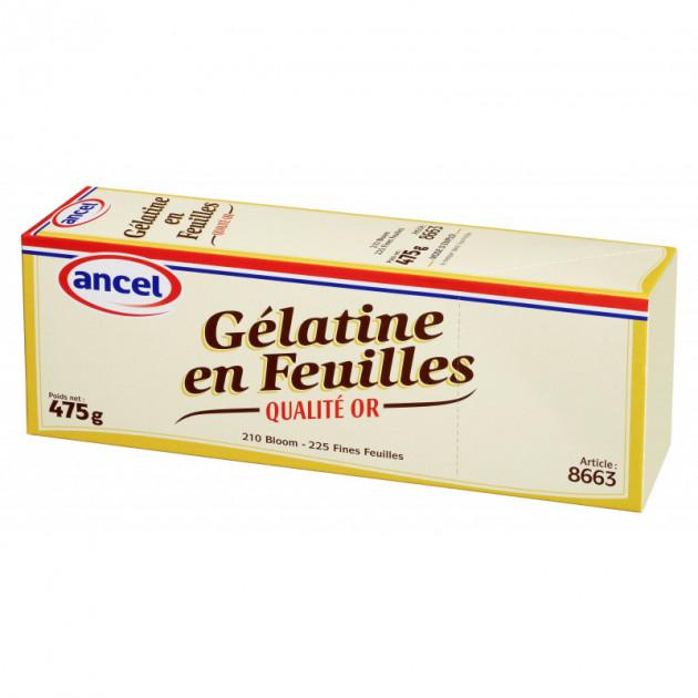 Gelatine en feuilles qualite or (210 blooms) 475g Ancel