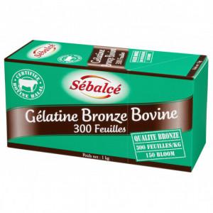 Gélatine en feuilles bronze bovine Halal x 300