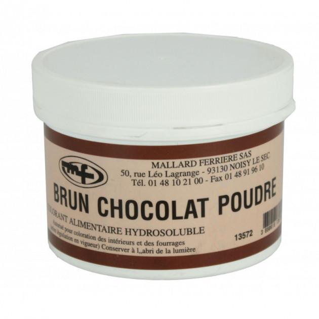 Colorant alimentaire Marron Brun Chocolat E102/E129/E151 Poudre Hydrosoluble 100g