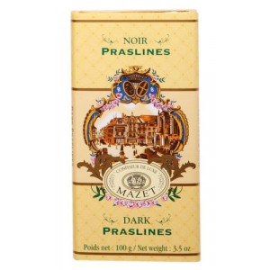 Tablette Chocolat Noir Praslines Mazet 100 g