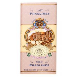 Tablette Chocolat Lait Praslines Mazet 100 g