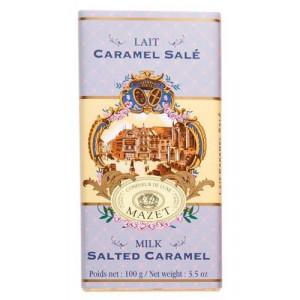 Tablette Chocolat Lait Caramel Salé Mazet 100 g