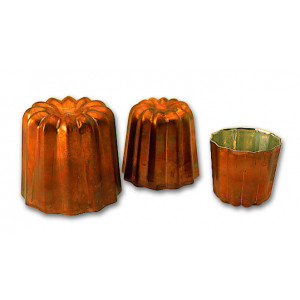 Moule à Cannelés en Cuivre étamé 3,5 cm x H 3,5 cm