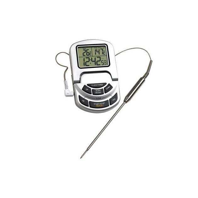 Thermometre sonde Inox avec Alarme