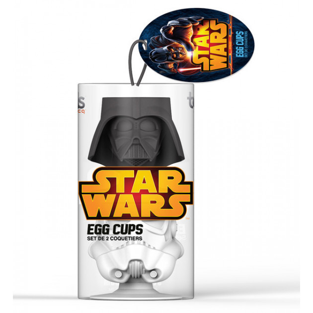 Coquetier STAR WARS en Silicone Dark Vador et Clone Trooper