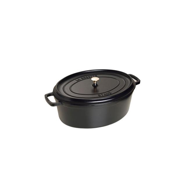STAUB Cocotte Fonte Ovale 33 cm Noir Mat 6.7 L