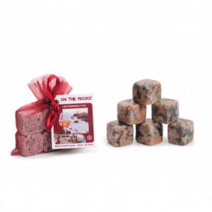 Glaçons Granit Rose de Bretagne x6 On The Rocks